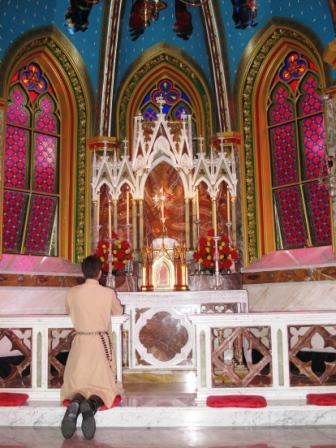Always seeking Our Lord in the Blessed Sacrament, be it with the greatest consolations or the most challenging aridity