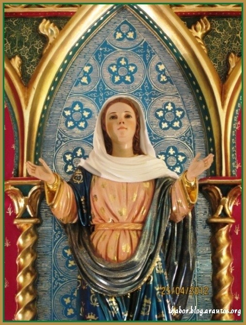 Image of Our Lady of the Ressurection,  the invocation of the original name of the House of Formation, Hermitage of Our Lady of the Resurrection